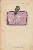 Cronici literare (1954 1956)