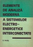 Elemente de analiza moderna a sistemelor electro-energetice interconectate