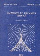 Elemente mecanica tehnica Teorie aplicatii