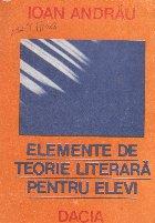 Elemente de teorie literara pentru elevi