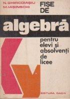 Fise algebra pentru elevi absolventi