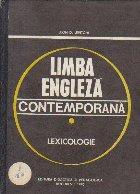 Limba engleza contemporana Lexicologie