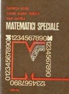 Matematici speciale Aplicatii