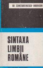 Sintaxa Limbii Romane